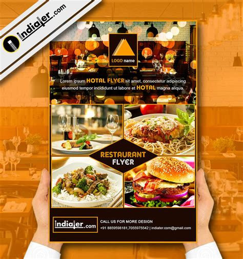 free templates for restaurant flyers restaurant flyer template v 6 indiater