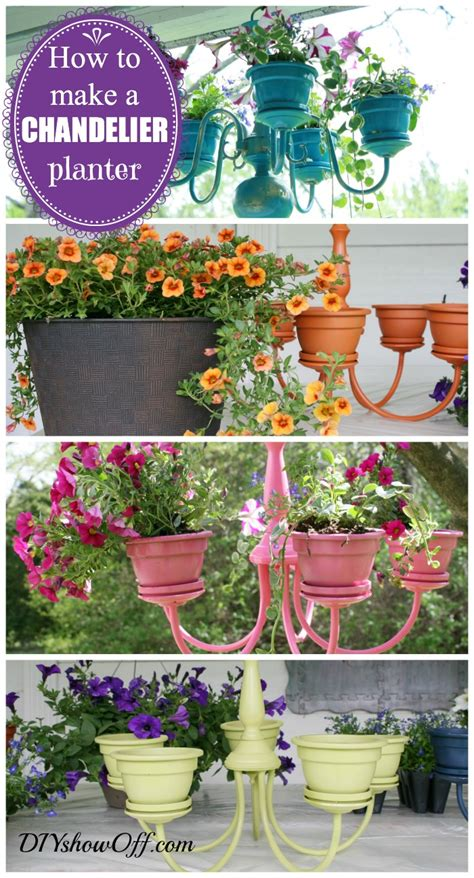 how to make hanging planters diy chandelier planter do it yourself fun ideas