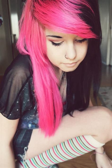 Black And Pink Hairstyles by Pink And Black Hair Www Imgkid The Image Kid