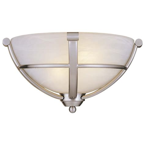 Brushed Nickel Sconce Sconce Wall Light In Brushed Nickel Etched Marble Glass