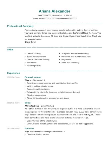 Personal Shopper Resume by Instacart Personal Shopper Resume Sle Union City California Resumehelp