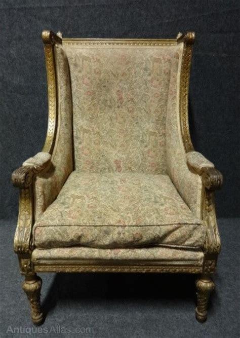 gilt winged armchair antiques atlas