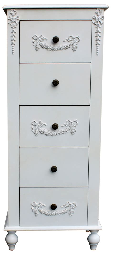 antique white distressed chest of drawers shabby chic antique white ornate distressed 5 drawer chest