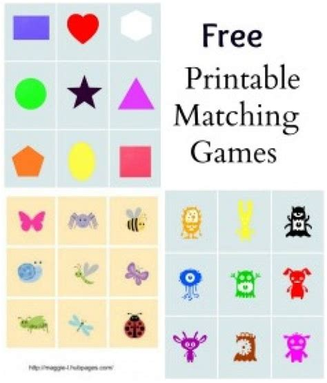 printable matching games for toddlers free printable matching games with instructions for