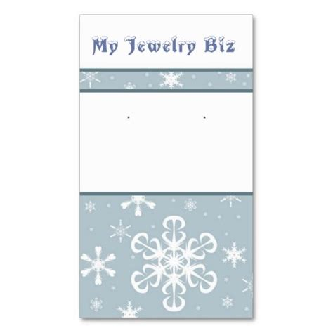 i want to make my own business cards snowflake earring cards business cards make your own