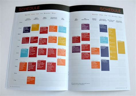 agenda layout inspiration 39 best design conference schedule images on