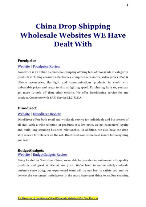 drop wholesale china drop shipping and wholesale websites list 1