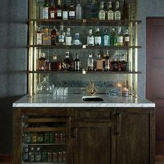 mirror backsplash home bar traditional with crystal choosing right furniture in kitchen ideas for small