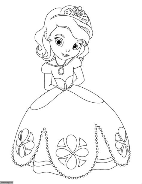 coloring pages to print disney princess disney princess sofia printable coloring page