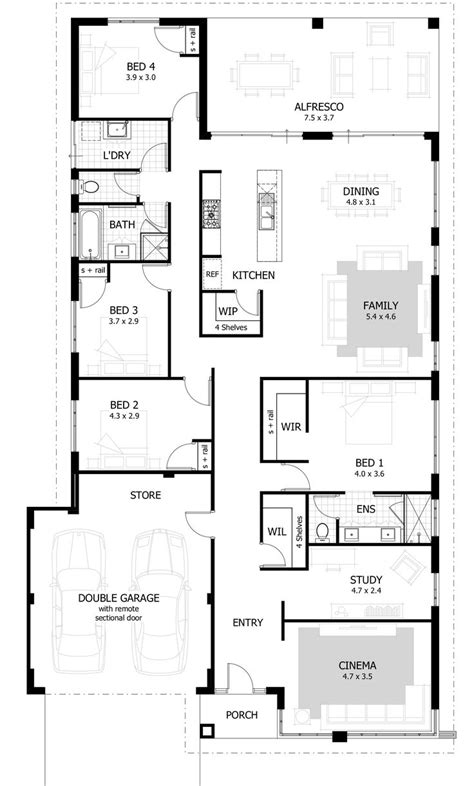 house plans for 4 bedrooms best 25 4 bedroom house ideas on pinterest 4 bedroom house plans house floor plans