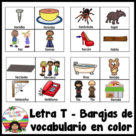 palabras con la letra a tools for educators didactalia letra t ta te ti to tu bundle teacher stuff spanish