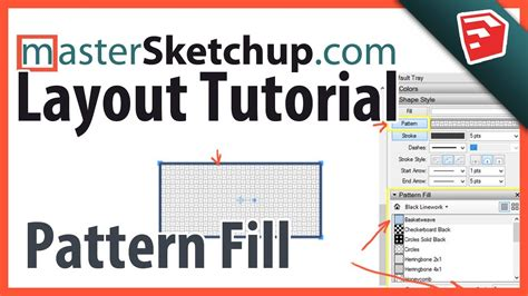 tutorial layout sketchup pro sketchup pro layout pattern fill tutorial youtube