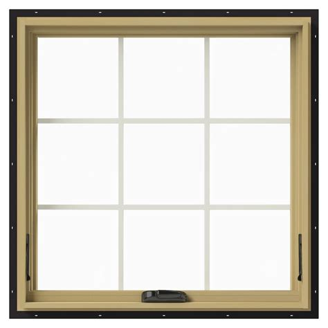 jeld wen 36 in x 36 in w 2500 awning aluminum clad wood