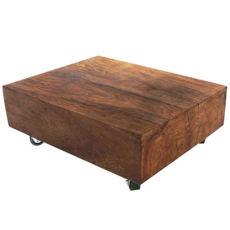 Block Coffee Table Solid Teak Block Coffee Table At 1stdibs