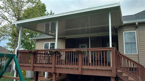 metal deck awnings aluminum awnings under decking nc sc