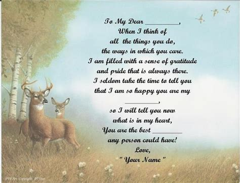 what christmas giftfor my son the hunter personalized poem deer print 50 name styles available