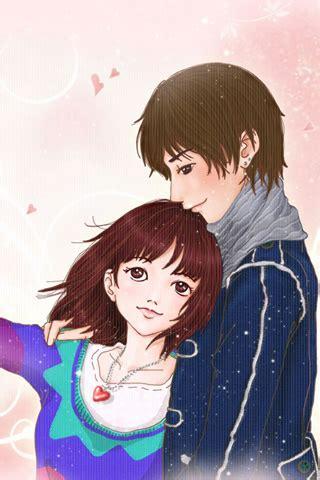 cute couple cartoon wallpaper   iphone wallpaper