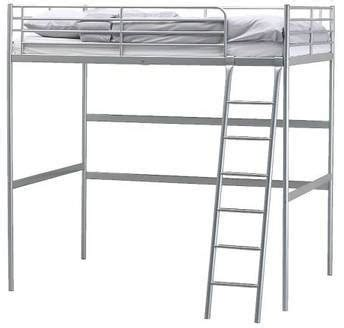 Tromso Bed Frame 75 Ikea Tromso Loft Bed Frame Silver Used Space Saver P U Only For Sale In Trumbull