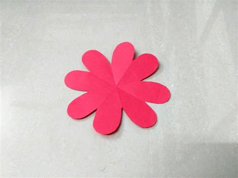 Paper Cutting Flowers Crafts - how to make simple easy paper flower 1 kirigami