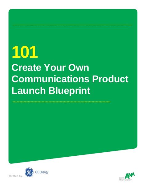 create your own blueprint 101 create your own communications product launch blueprint
