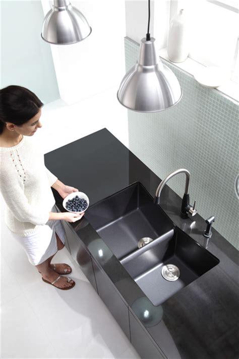 modern kitchen kraus kgu new black composite kitchen kraus kgu 431b double bowl black onyx granite kitchen sink