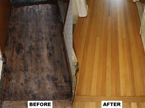 Refinished Hardwood Floors Before And After Before After No One Else Comes To My Work Distinctive Wood Floors By Charles Peterson