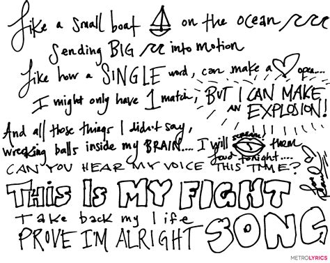 song lyrics platten wrote out empowering quot fight song