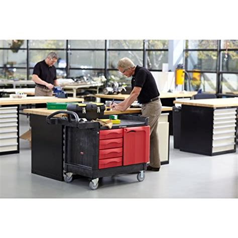 rubbermaid trademaster cart with cabinet rubbermaid commercial fg453388bla trademaster service cart
