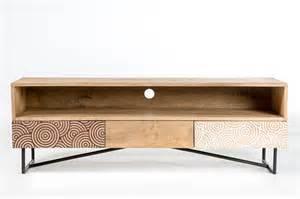 meuble tv design bois et metal