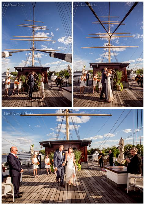 Wedding Ceremony On A Boat by Philadelphia Independence Day Wedding On The Moshulu Yacht