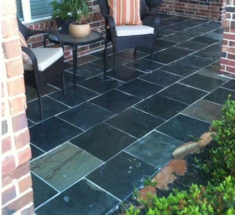 slate tiles for patio choosing the outdoor patio flooring material