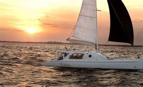 private catamaran cruise bali romantic sunset cruise on a private catamaran the bali bible