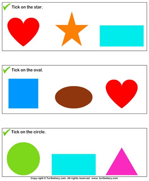 pattern recognition for 4 year olds identify shapes worksheet 2 turtle diary