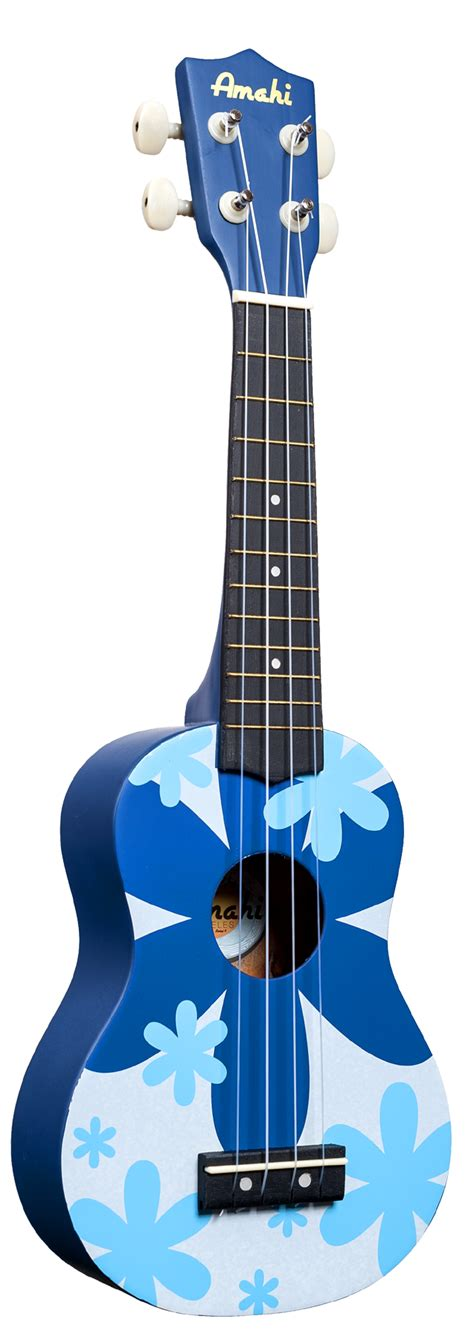 flower design ukulele dorsey music amahi soprano ukulele blue flower design
