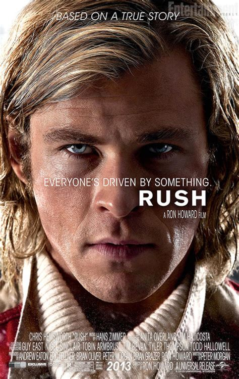 film rush rush chris hemsworth close up in new poster movies