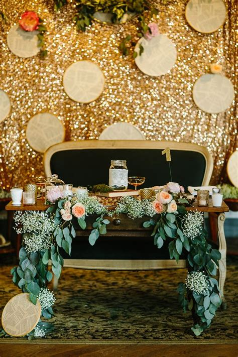 picture   gold sequin reception backdrop  hoops