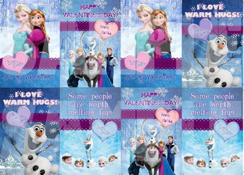 printable frozen valentines personalized disney s frozen valentine s cards printable