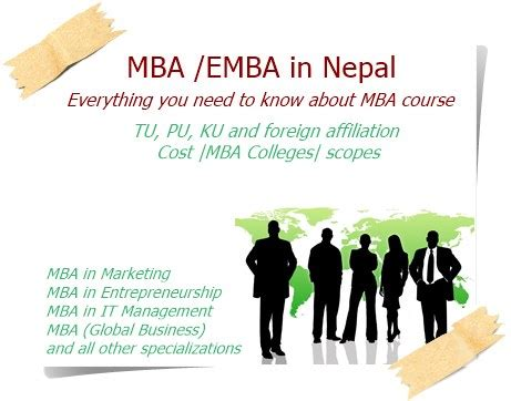 Scope After Mba In Agriculture by Mba In Nepal Tu Ku Pu And Foreign Affiliation Cost