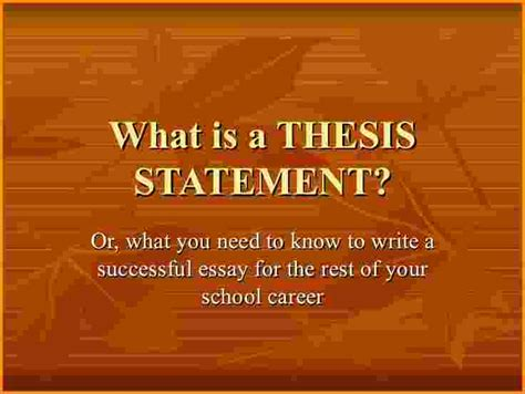 whats a thesis statment 5 whats a thesis statement authorization letter