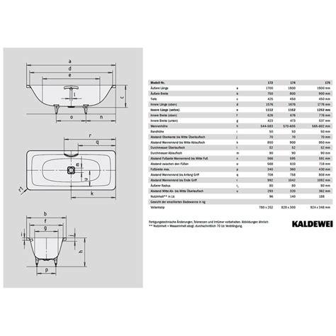 Kaldewei Incava Badewanne 180 x 80 cm 217400010001   MEGABAD