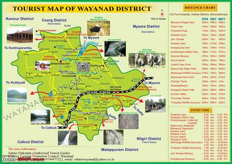 attractions in map bangalore wayanad route accommodation page 9 team bhp