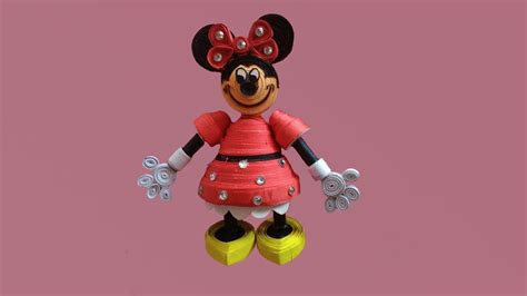 quilling mouse tutorial paper quilling how to make 3d disney youtube