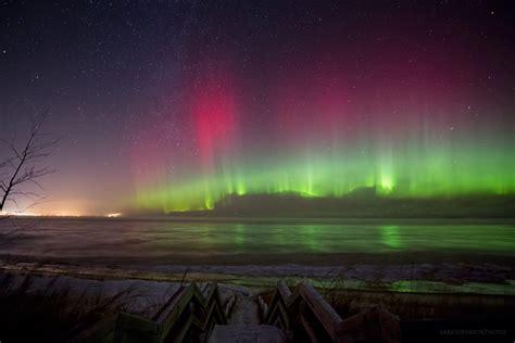 Northern Lights In Michigan by Northern Lights Marquette Mi Michigan