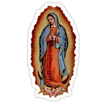 imagenes navideñas religiosas en color pegatinas 171 virgen de guadalupe 187 de zquad redbubble