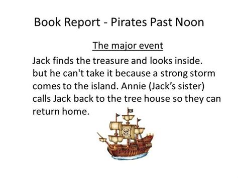 Magic Tree House Book Report Template Book Report Past Noon Authorstream