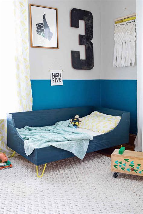 toddler bedroom furniture modern toddler bed diy a beautiful mess 13534   74