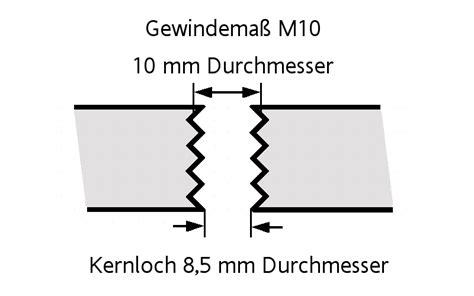 Gewinde M8 Vorbohren by Kernloch