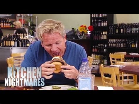 Kitchen Nightmares Burger Kitchen by Gordon Can T Get Cowboy Burger In His Kitchen