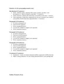 Argumentative Essay Outline Template by Persuasive Outline