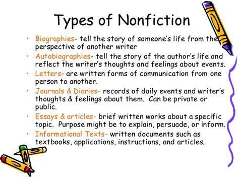 characteristics of biography genre nonfiction